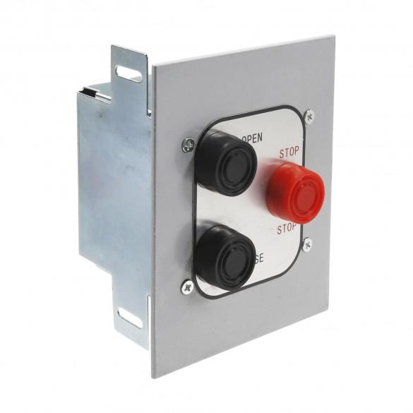 Exterior Three Button Control Station Flush Mount - MMTC 3BFX