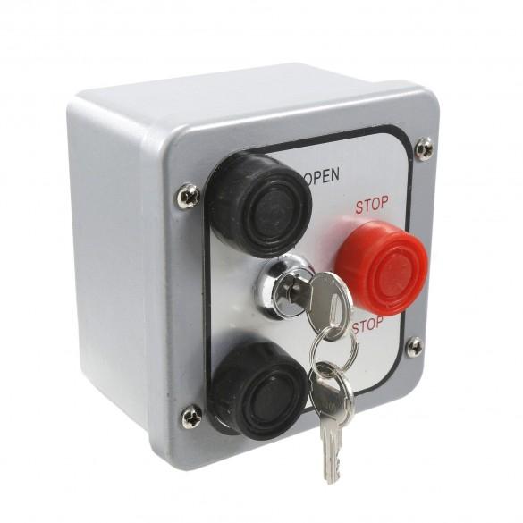 NEMA 4 Three Button Exterior Control w Lockout Surface Mount - MMTC 3BXL