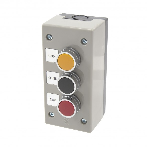 NEMA 4 Exterior Three Button Control Station Surface Mount - MMTC 3BXT