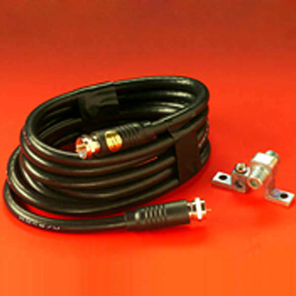 Miller Edge ANT-K Rigid Antenna, COAX Cable and Connector Block