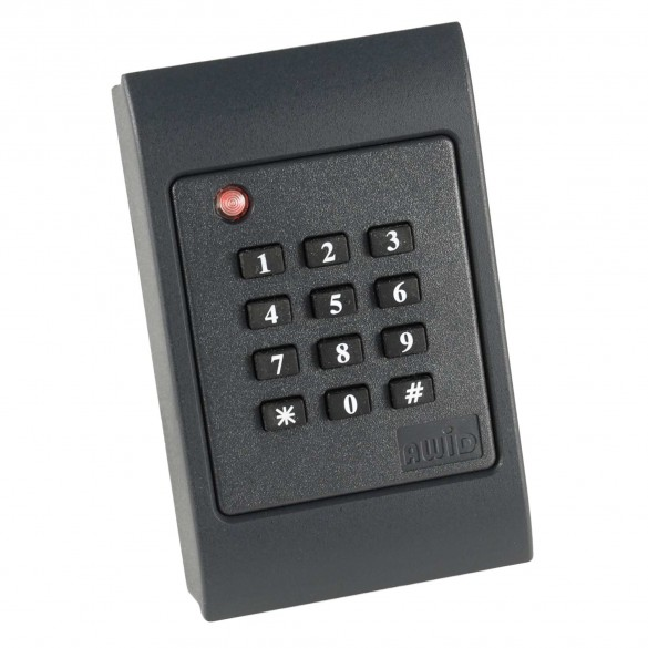AWID DK-1025, Gray, CSN Read Only, Dual Frequency Reader w/Keypad