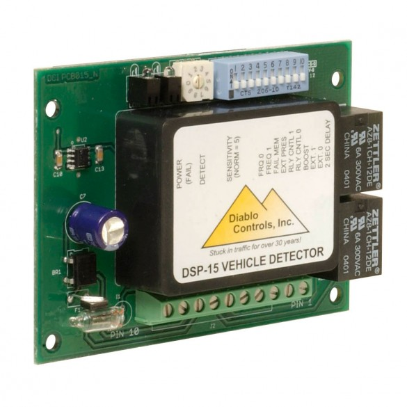 Diablo Vehicle Loop Detector With 10-Pin Right Angle Female Molex (10-30V, AC or DC) - DSP-15-F