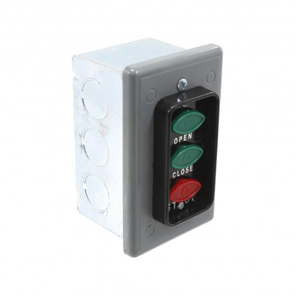 Interior Three Button Control Station w/ DP on CLOSE-STOP - MMTC LCE-3A