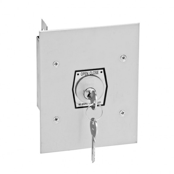Interior Tamperproof Keyswitch OPEN-CLOSE Flush Mount - MMTC 1KF