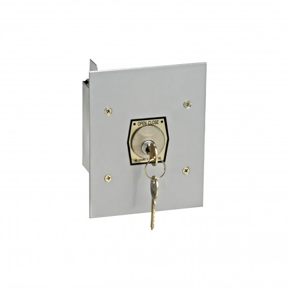 Exterior Open/Close Keyswitch w/ Changeable Core Cylinder - MMTC 1KFX-CC