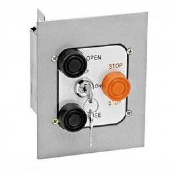 Interior Three Button Control Station w/ Lockout Flush Mount - MMTC 3BFL