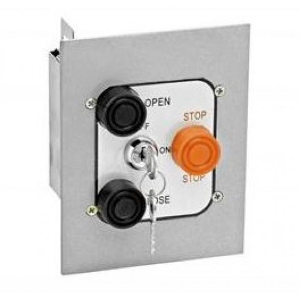 Exterior Three Button Control Station w Lockout Flush Mount - MMTC 3BFLX