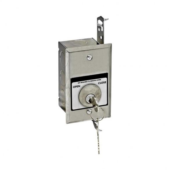 Tamperproof OPEN-CLOSE Keyswitch Flush Mount - MMTC HBFT