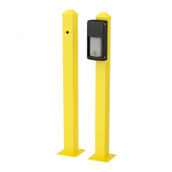 """OPTEX 30"""" Mini Post for Road Surface Mounting OVS Series (Yellow) - OVS-MPY (Vehicle Detector Not Included)"""