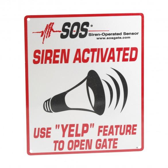 "SOS-RS Reflective YELP Sign (8"" x 10"")"