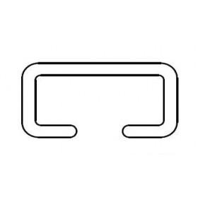 Miller Edge ME120-PC Mounting Channel (Rigid PVC) (Per Foot)