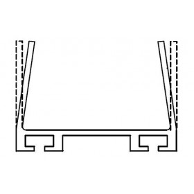 Miller Edge ME123-C0175 Mounting Channel (Per Foot)