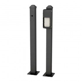 "OPTEX 30"" Mini Post for Road Surface Mounting OVS Series (Black) - OVS-MPB"