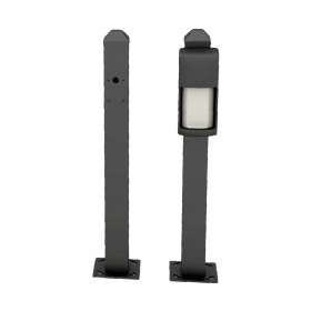 "OPTEX 23"" Mini Post for Curb Mounting OVS Series (Black) - OVS-MPBCURB"