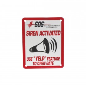"""SOS-RS-S Small Reflective YELP Sign (4"""" x 5"""")"""