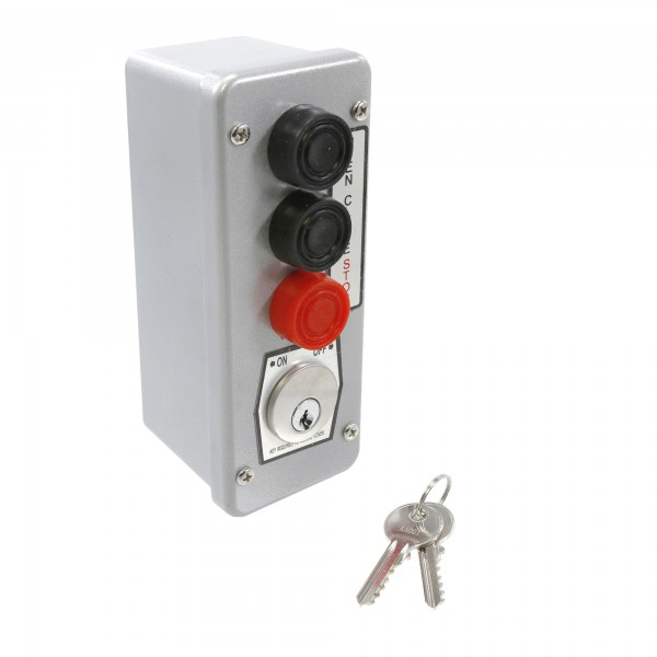 NEMA 4 Three Button Control w/ Mortise Lockout Surface Mount - MMTC 3BLM