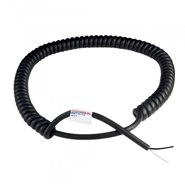 Miller Edge Coil Cord - 18 Gauge - 2 Conductor - 24 ft. Expanded - C182-24B (12 ft. C182-12B Model Shown)