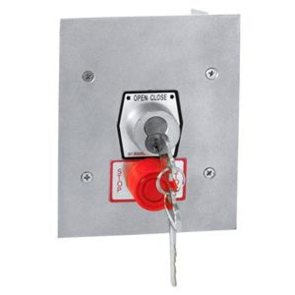 Exterior Flush Mount Keyswitch w/ Best Core Cylinder and Stop Button - MMTC 1KFSX-BC