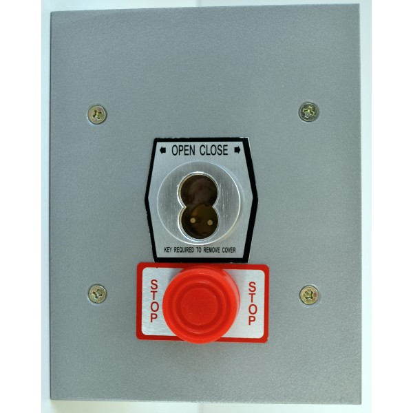 Exterior Flush Mount Keyswitch S-Type w/ Large Format Cylinder and Stop Button - MMTC 1KFSX-SLF