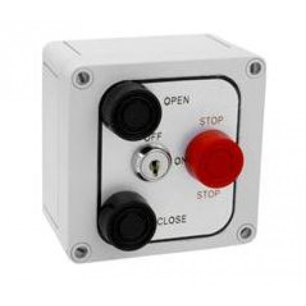 Exterior Three Button Control w Lockout Corrosive Resistant - MMTC 3B4XL