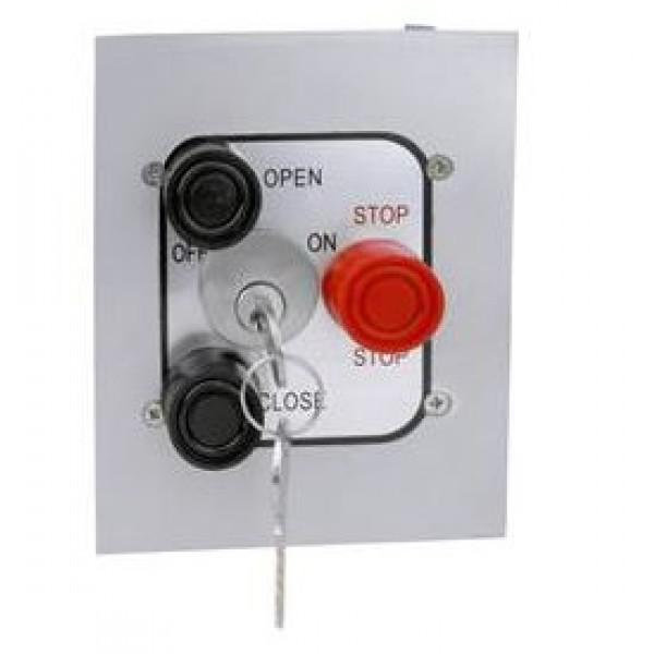 Interior Three Button Control w/ Mortise Lockout Flush Mount - MMTC 3BFLM