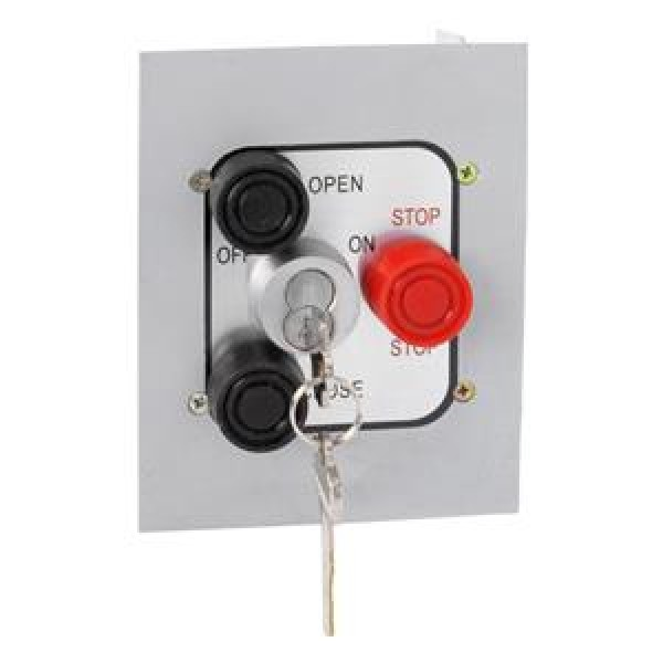 Exterior Three Button Control Station w/ Best Cylinder Lockout Flush Mount - MMTC 3BFLX-BC