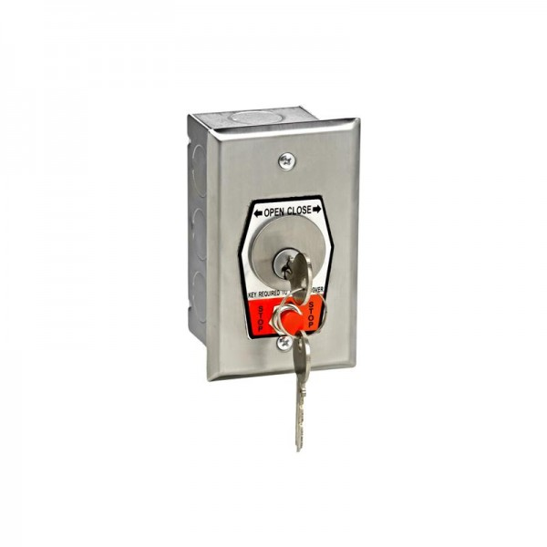 Exterior Flush Mount Keyswitch with Stop Button - MMTC HBFSX