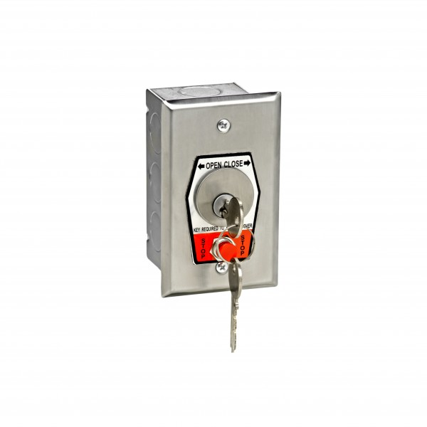 HBFSX Keyswitch w/ Changeable Core Cylinder and Stop Button - MMTC HBFSX-CC
