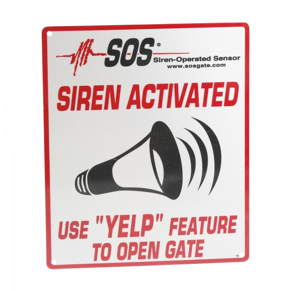 "SOS-RS Reflective YELP Sign (8"" x 10"")"