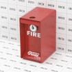 Access One Mini Gooseneck Fire Lock Box - FLB100-MINI (Grid Shown For Scale)